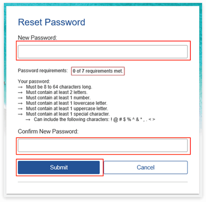 How to reset and create a password